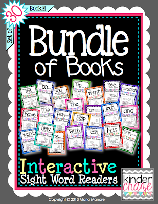 Bundle of Books - Best-Selling Interactive Sight Word Readers for 50% off