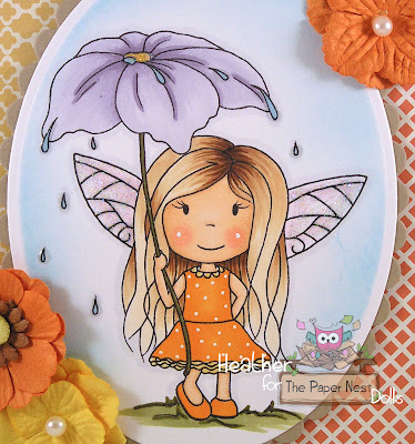 Heather Huggins - The Paper Nest Dolls - Fairy with Umbrella