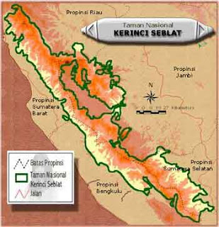 Lokasi Taman Nasional Kerinci Seblat