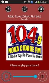 """Instale Nosso Aplicativo  Digitando A Palavra:  """"Radio Nova Cidade Fm 104.9""""  Pelo Play Store."""