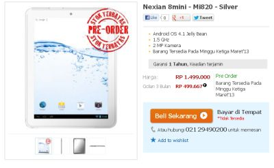 review Nexian Mini 8 Tablet Android 8 inch