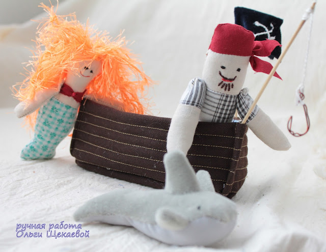 пираты, куклы, лодка