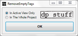 Revit Addin RemoveEmptyTags from dp Stuff utils