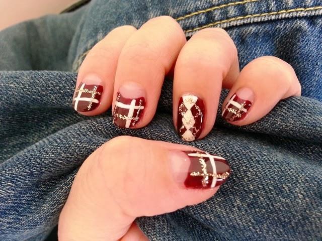 Cutesy 2 Glam Nails Winteryholiday Nail Art