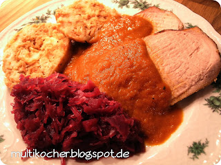 rezepte f r den multikocher schweinebraten aus der kugel nt slow cooking. Black Bedroom Furniture Sets. Home Design Ideas