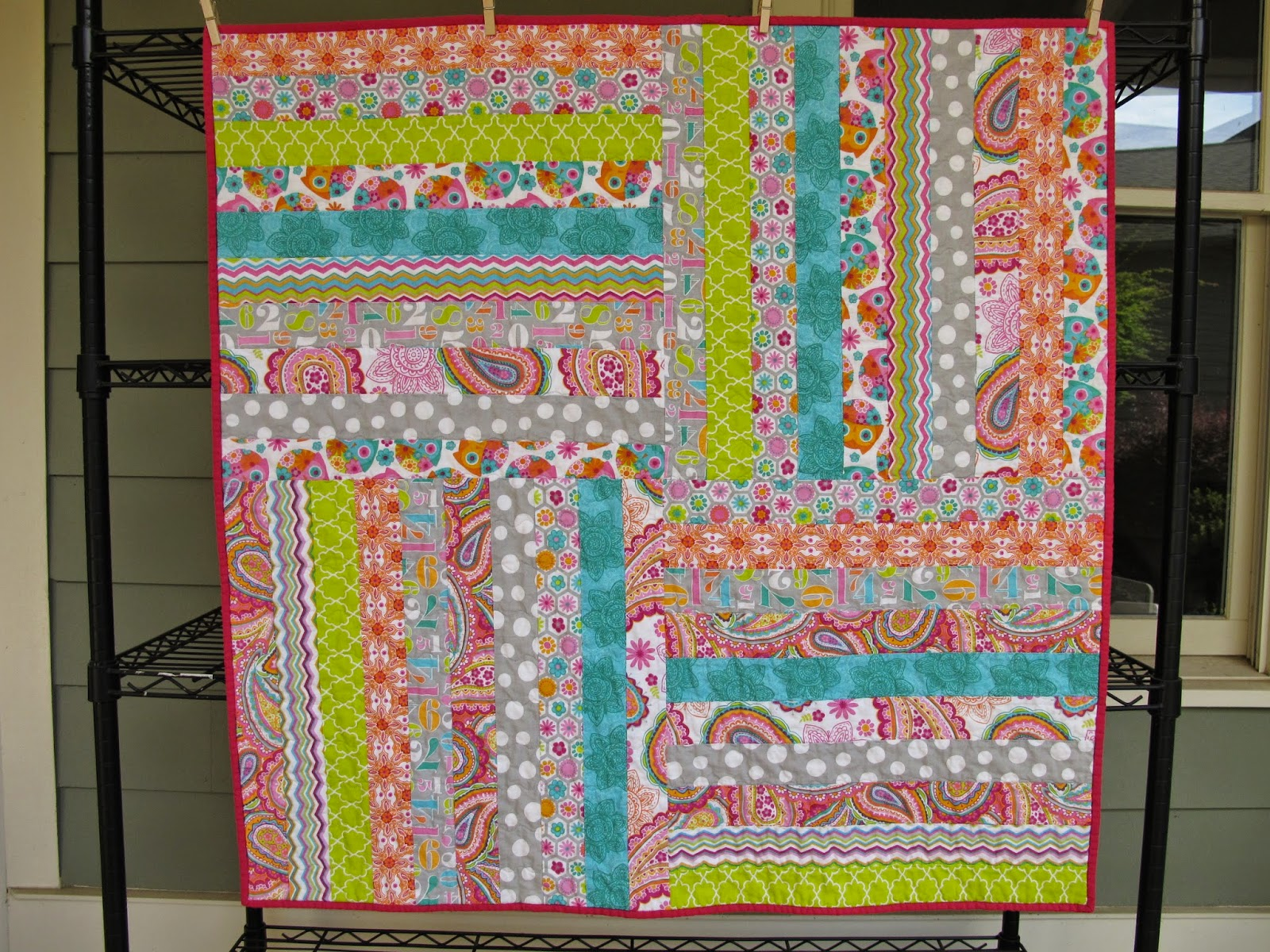 Modern Cozy: Jelly Roll Baby Quilt : jelly roll baby quilt - Adamdwight.com