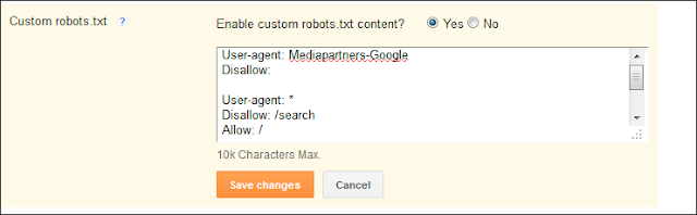 Robot.txt, Blogger, Custom, SEO