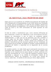 ¡AL RICO PLD!, ¡521! PUESTOS EN 2020