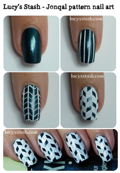 Lucy's Stash - Jonqal pattern nail art tutorial