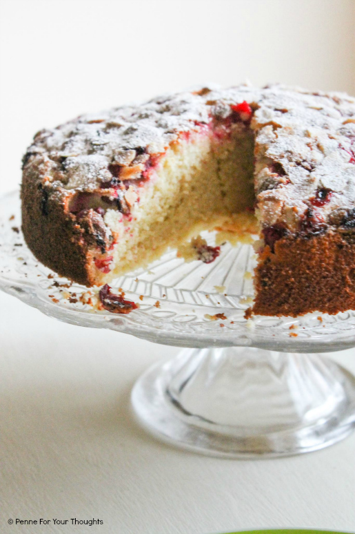 Flourless cranberry orange and almond cake