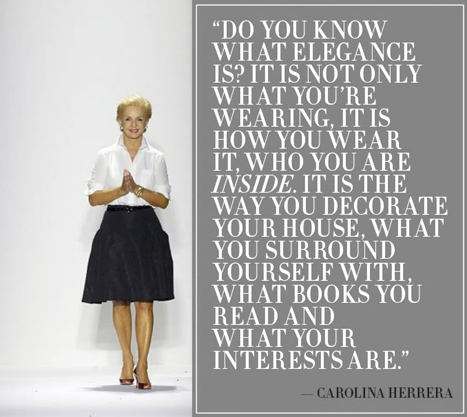"4 - Destaque da Semana ""Sites/Blogs"" - ""Carolina Herrera""."