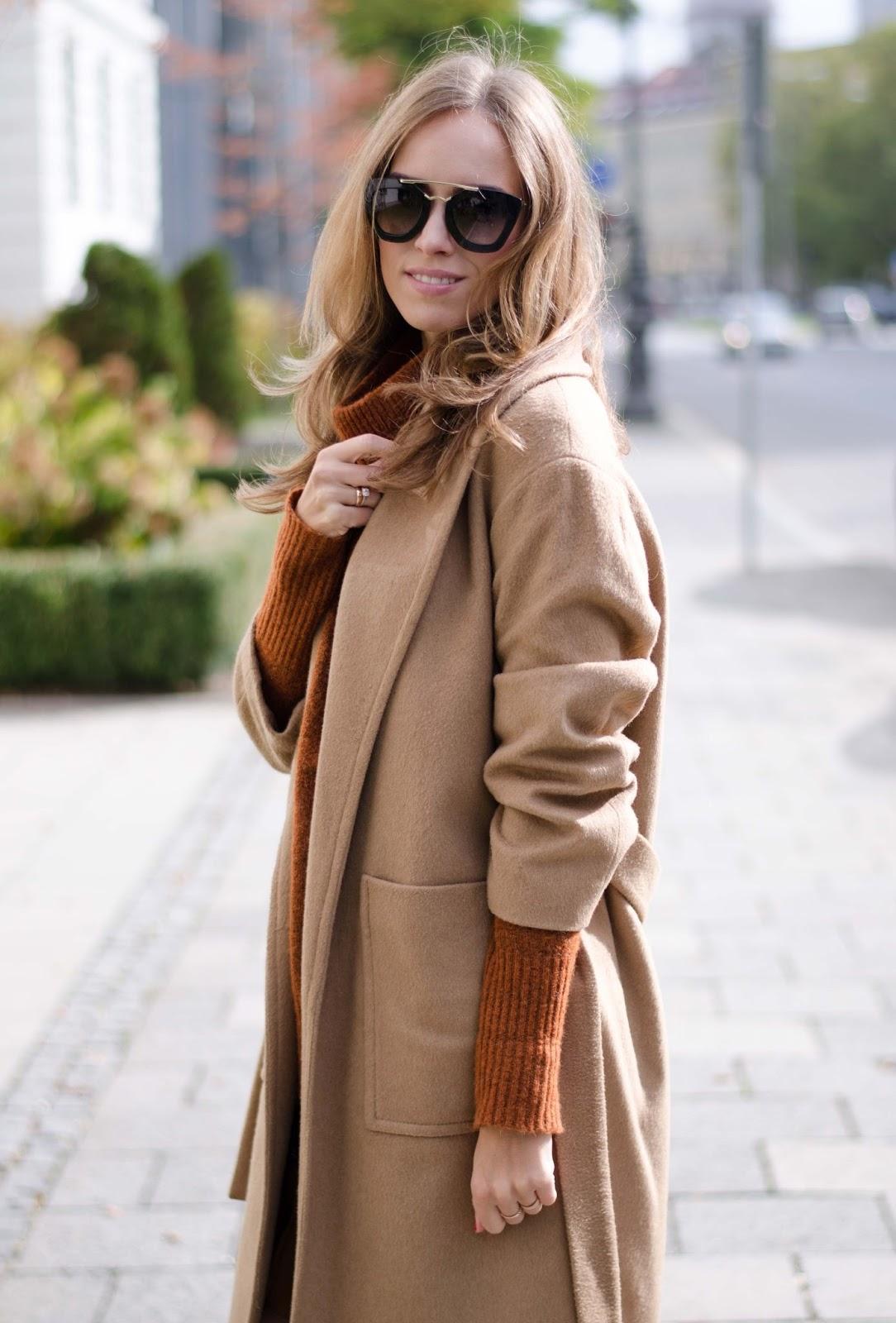 kristjaana mere mango camel coat prada cinema sunglasses street style