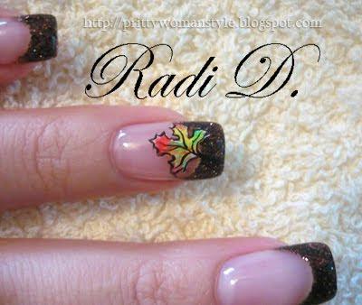 есенна декорация на нокти
