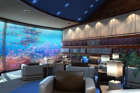 Dian elysa putri poseidon undersea resort in fiji for Habitacion de hotel bajo el mar