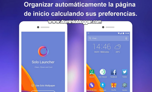 Acelera el rendimiento de tu telefono con Solo Launcher