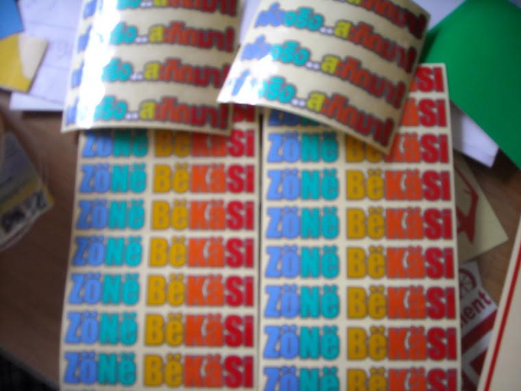 sticker zone bekasi