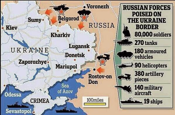 "Where The Russian Troops Are ""Pre-Takeover"" Infographic"