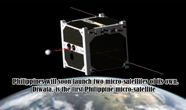 Department of Science and Technology (DOST) finally revealed that Philippines will soon launch two micro-satellites of its own. Diwata, is the first Philippine micro-satellite to be hopefully launched in 2016 followed by another not yet unnamed micro-satellite as announced by DOST on March 10, 2015.