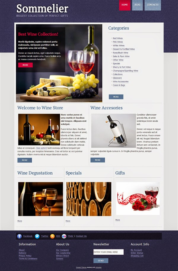 Wine Guru - Free Drupal Theme