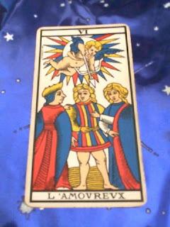 Los Enamorados. Tarot de Marsella