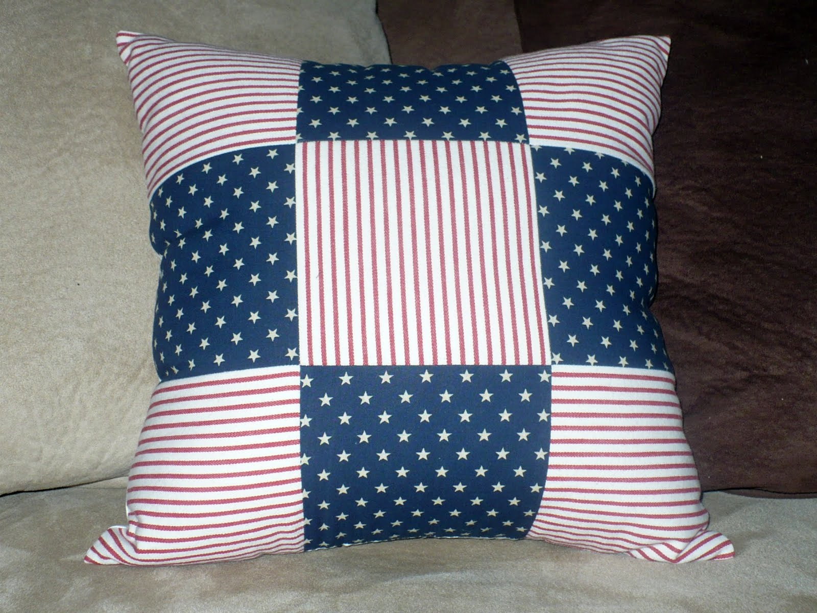 The Polka Dot Umbrella Patriotic Pillows