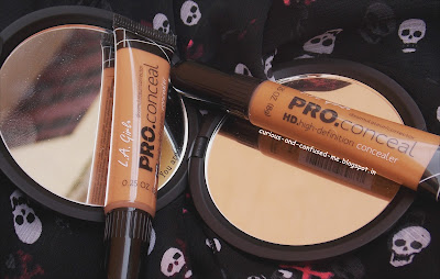 LA Girl Pro HD concealer review, LA Girl Pro HD concealer Warm Honey review, LA Girl Pro HD concealer Fawn review, LA Girl Pro HD concealer swatches, LA Girl Pro HD concealer for Dusky skin, LA Girl concealer review swatches, Indian beauty blog, Concealer for Dusky skin India.