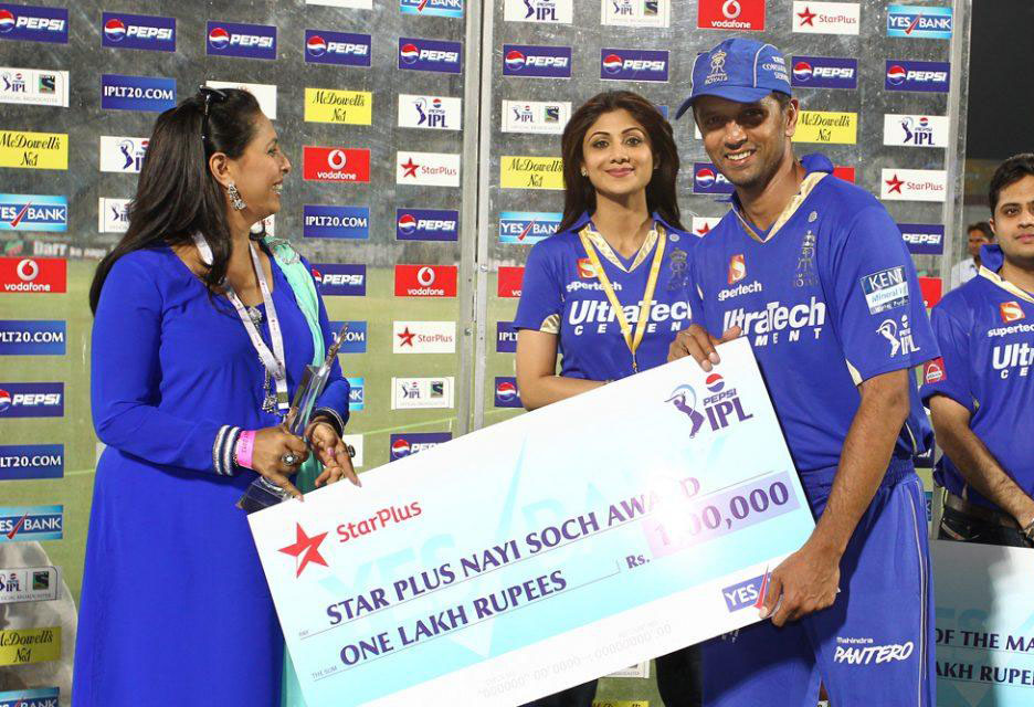 Rahul-Dravid-Star-Plus-Nayi-Soch-Award-RR-vs-DD-IPL-2013