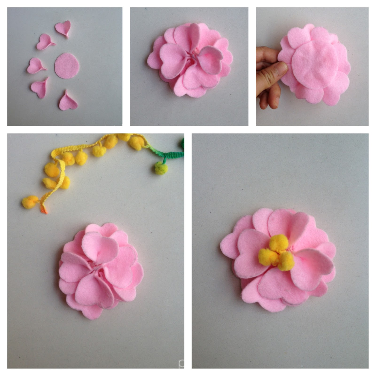 how to make material flowers step by step