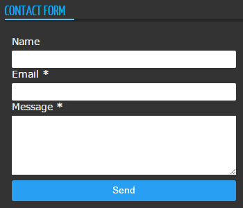Blogger Default Customized Contact Form for Footer