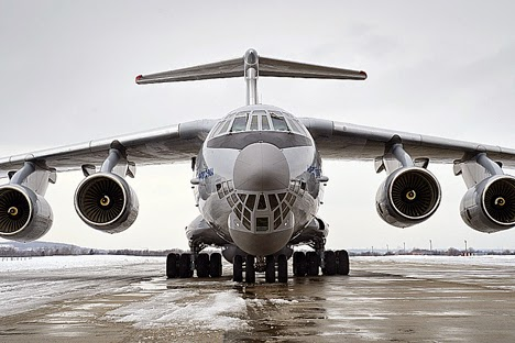 Pesawat Ilyushin IL-76. Foto: Press photo