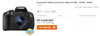Canon EOS 700D Kit 18-55mm black