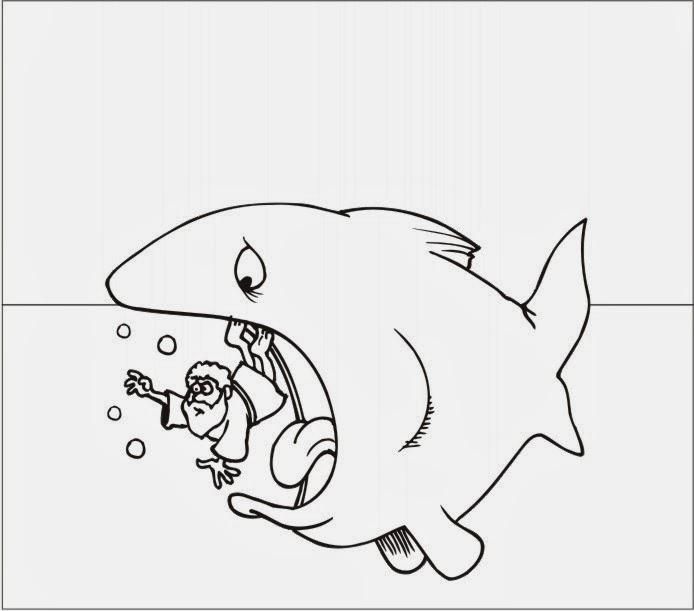 Dibujos para colorear de jonas y la ballena Buscar con Google