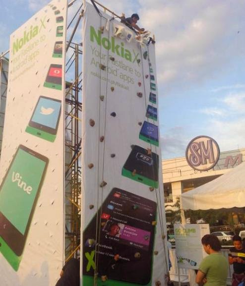 Nokia X Races: Consumer Launching Of Nokia X Smartphone- Wall Climbing