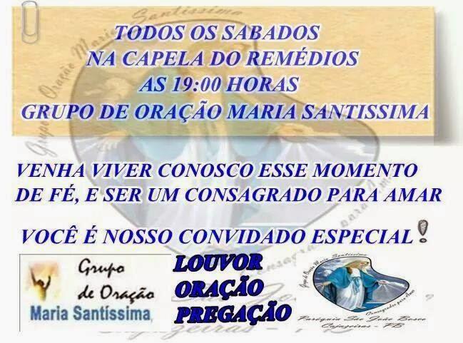 GRUPO DE ORAÇÃO MARIA SANTISSIMA
