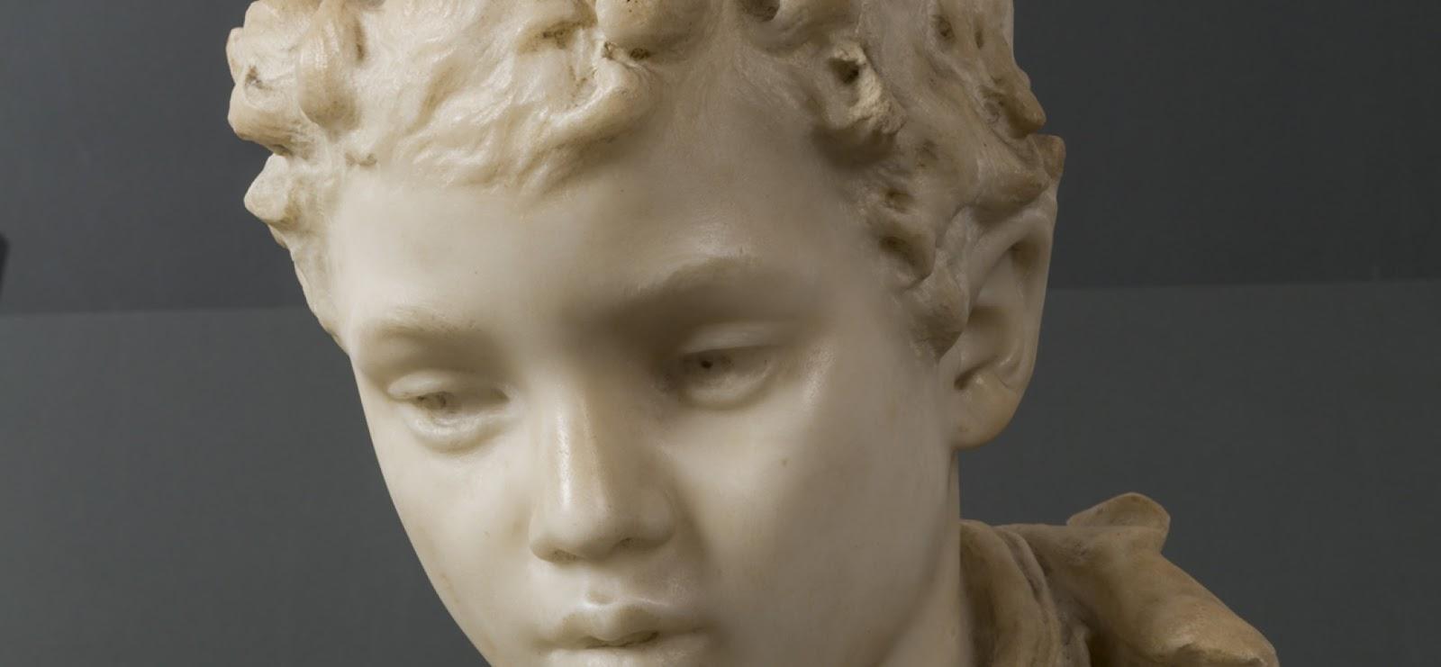 Vincenzo Gemito Testa di fanciullo detail