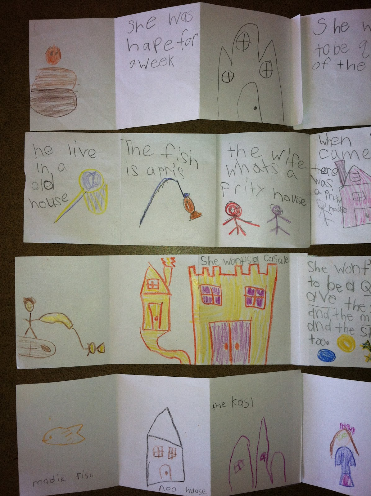 Strips of paper note story