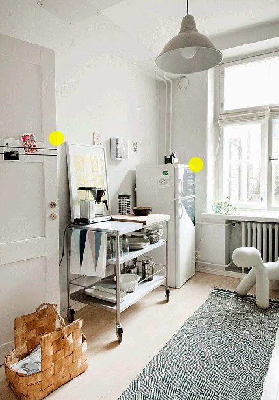 muitas ideias para apartamento pequeno - espaços coloridos - adesivo vinílico