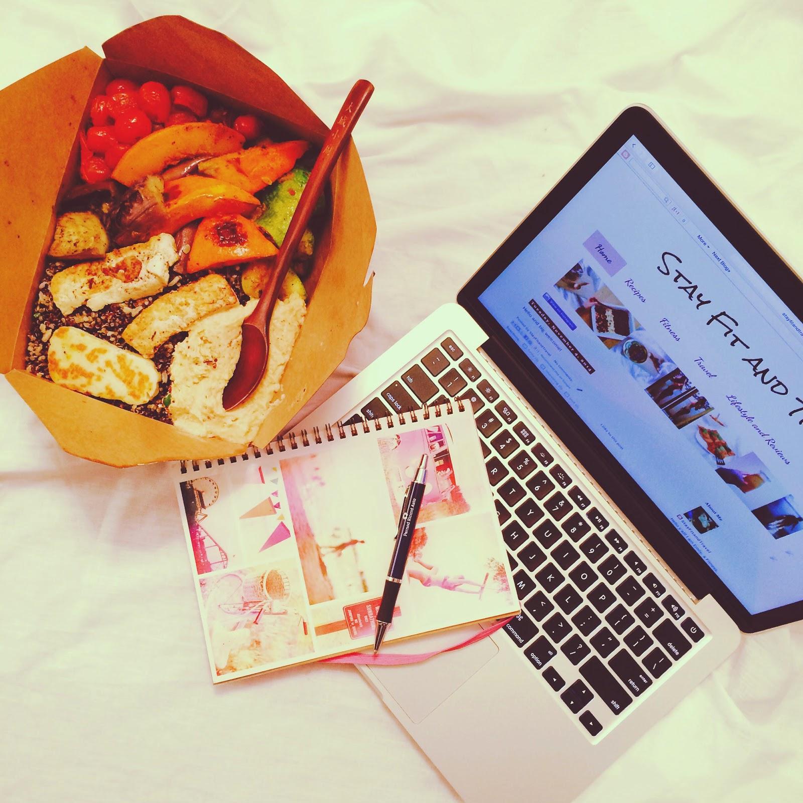 Organic Vegetarian Salad While Blogging