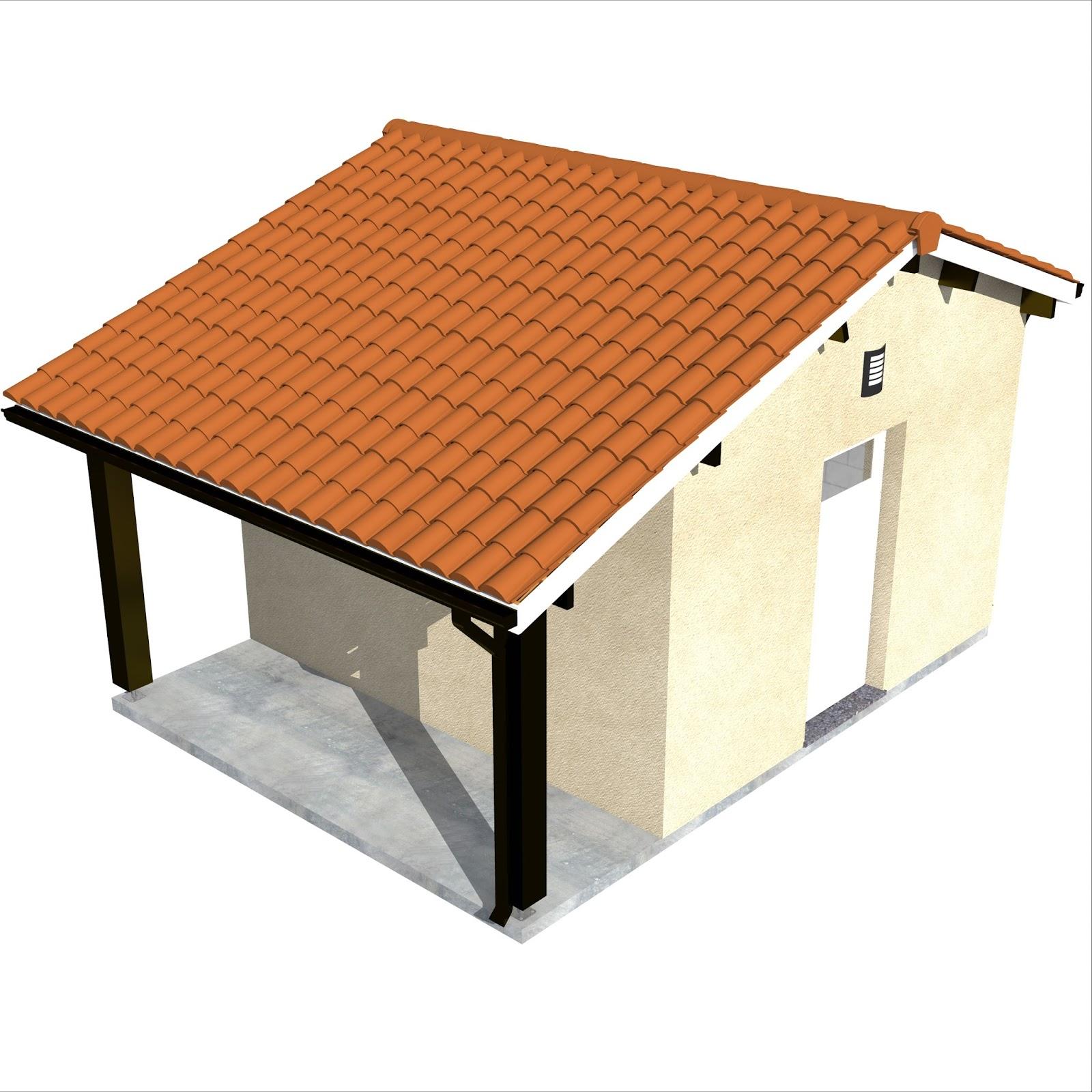 Construction Abri De Jardin + Auvent 20m2 En Parpaing 4