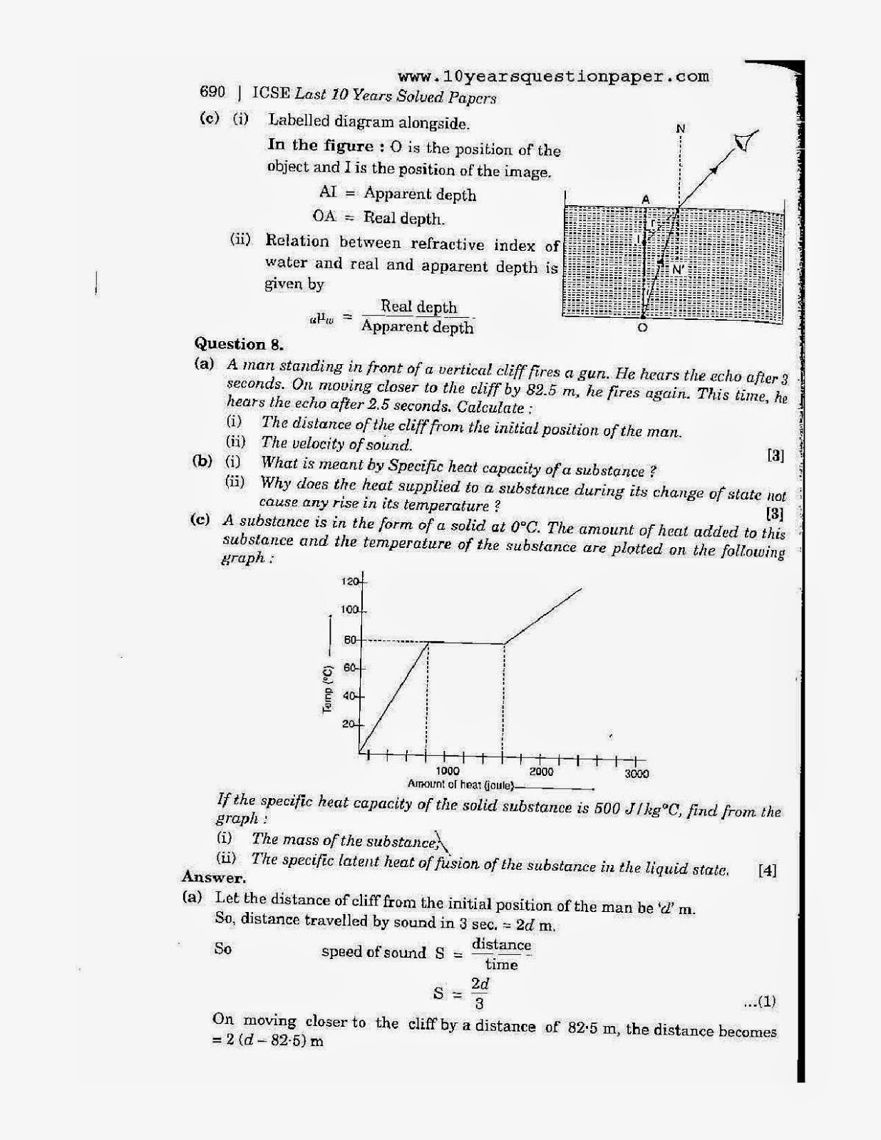 icse 2007 class 10th science physics paper 1 question paper