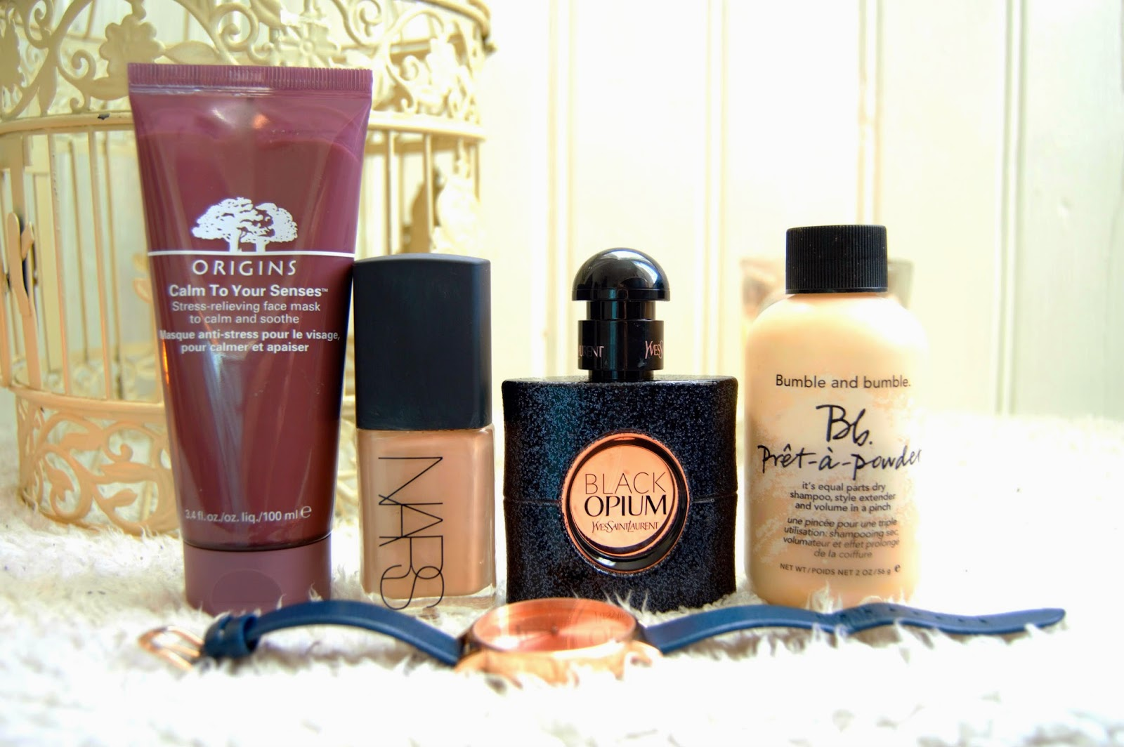 Favourite January Beauty Products, including Origins Calm to Your Senses, Bumble & Bumble,YSL, Nars and Olivia Burton