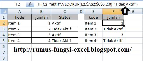 menggabungkan fungsi if dan fungsi vlookup