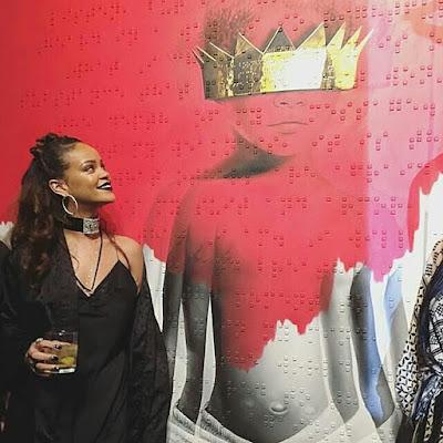 Rihanna reveals art for her 8th studio album ANTI.