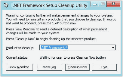 Software Uninstall .NetFramework