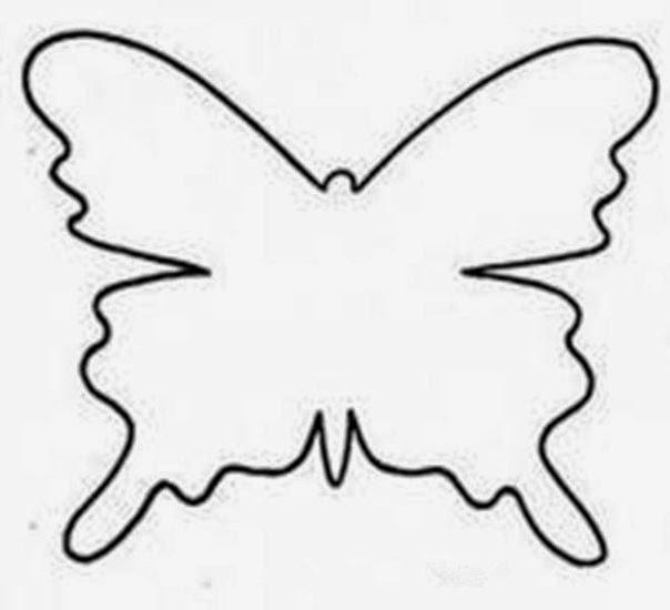 Бабочка на стену своими руками трафарет