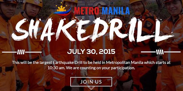 Metro Manila Shakedrill June 30