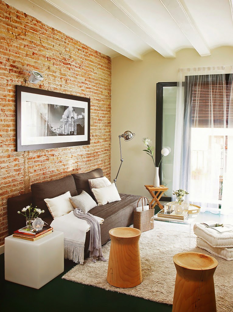 ... : Interni con pareti materiche a mattoni - Brick walls everywhere