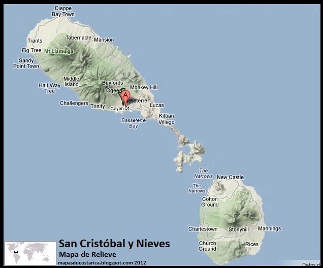 Mapa De Relieve De San Crist 243 Bal Y Nieves