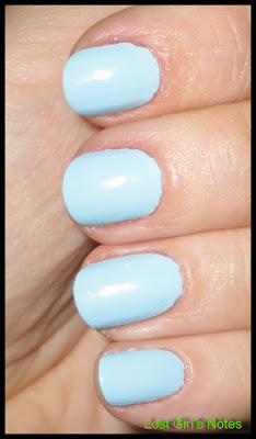 POP nail polish baby blue swatch