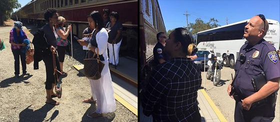 "These members of a book club had the ""audacity"" to laugh and have fun while touring the Napa Valley by train: Cops were called and they were kicked off."
